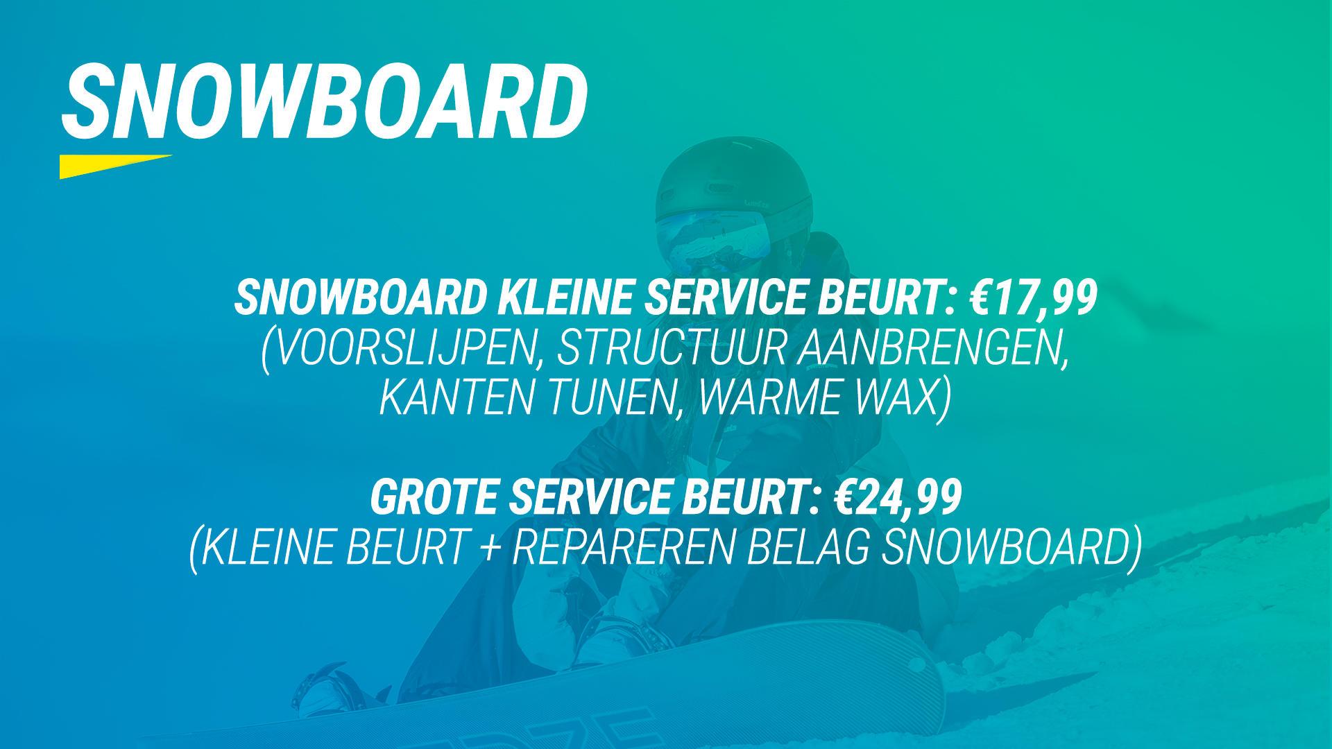 Banner wax&slijp SNOWBOARD